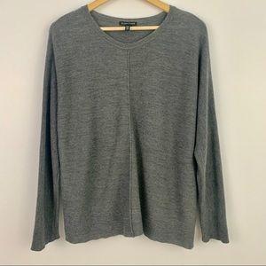 Eileen Fisher Gray Italian merino wool sweater